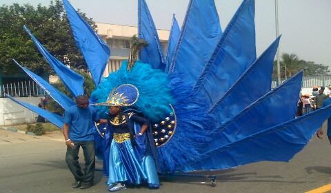Nature and the carnival procession