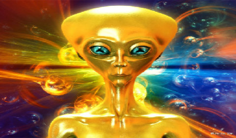 Golden Triangle-Head Beings of the Galactic Federation