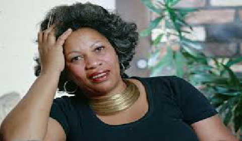 African American author Toni Morrison in her younger days