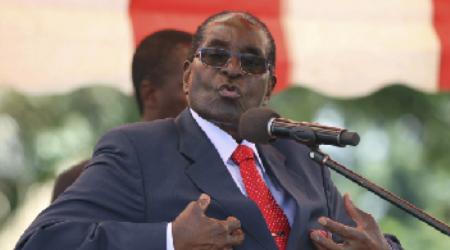 Robert Mugabe when he was president of Zimbabwe