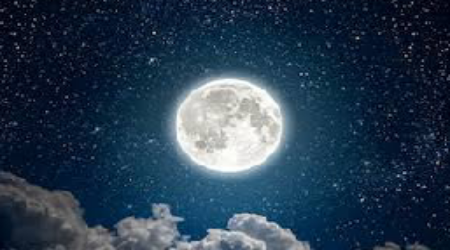 Night view of the moon