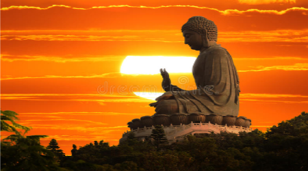Stock image of Buddha blessing