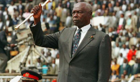 Former Kenyan dictator Arap Moi