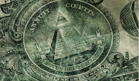 Illuminati all seeing eye on the US dollar