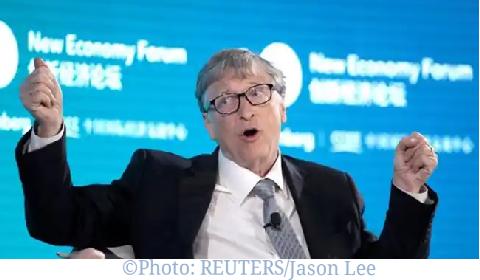 Bill Gates being interviewed