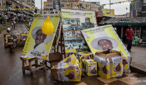 2021 uganda presidential election posters