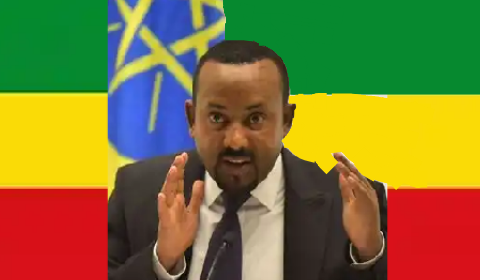 Ethiopia flah with PM, Ahmed